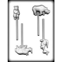 Zoo Animals Sucker Hard Candy Mold