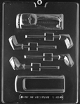 Golf Bag & Clubs Pour Box Chocolate Mold