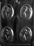 Bride & Groom Medallion Mold