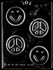 Smile Face / Peace Bar Mold