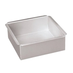 "Set of 2"" Deep Square Aluminum Pans 3"" to 9"""