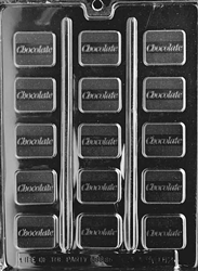 Chocolate Inscribed Mint Mold