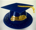 Blue Graduate Mortar Board Cap Cake Topper