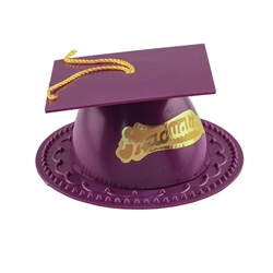 Purple Graduate Mortar Board Cap Cake Topper