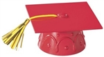 Red Graduate Mortar Board Cap Cake Topper