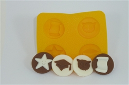 Graduation Assortment Flexible Chocolate Mold