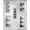 Love with Hearts Bars Mold