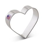 "2-5/8"" Heart Shaped Cookie Cutter Valentine wedding anniversary"