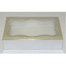 One Pound Silver Foil Cookie Box