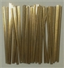 "4"" Gold Paper Twist Ties - 2,000 Pack"