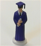 Purple Gown Graduate Boy Cake Topper graduation high school college