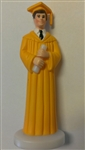 Gold Gown Boy Graduate Cake Topper