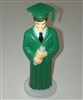 Green Gown Graduate Boy Cake Topper