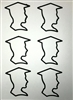 Boy Graduate Black Outline Decal - 6 Pack