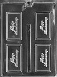 Happy Anniversary Card Chocolate Mold
