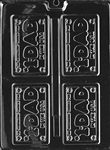 Dad License Plate Chocolate Mold father's day birthday D041