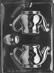 3D Tea Pot Chocolate Mold tea party beauty and the beast alice in wonderland D077