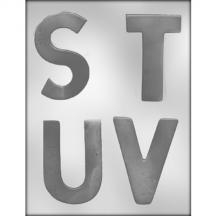 "Letters 4"" S-T-U-V Chocolate Mold alphabet 90-14256"