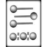 3D Golf Ball Sucker Hard Candy Mold