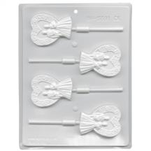 Bride Groom Heart Hard Candy Mold