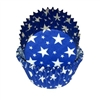 Blue Baking Cups with White Stars - 100 Count