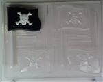 Jolly Roger Pirate Flag Lollipop Chocolate Mold - CCH081
