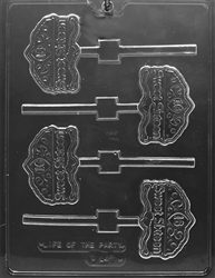 """Sweet 16"" on Tiara Lolly Chocolate Mold"