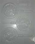 "3"" Holly Sucker chocolate Mold lollipop holiday christmas 90-4224"