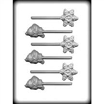 Snowflake Snowman Sucker Hard Candy Mold