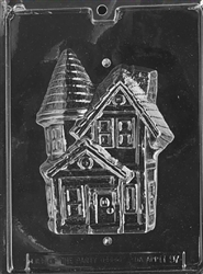 3D Haunted House Chocolate Mold - Back