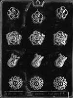 Assorted Flowers Chocolate Mold