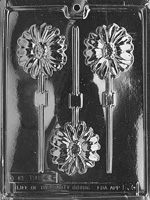 Long Stem Daisy Lolly Chocolate Mold