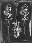 Ghost With Pumpkin Head Lolly Chocolate Mold - LPH084