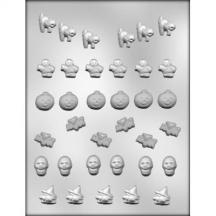 "3/4"" Bite Size Halloween Assortment Chocolate Mold"