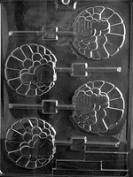 Fancy Turkey Lolly Chocolate Mold - LPT011