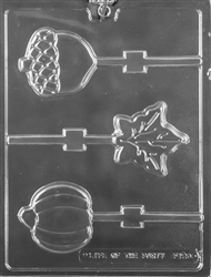 Fall Assortment Lolly Chocolate Mold - LPF123