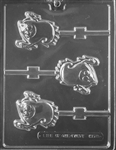 Smiley Ghost Lolly Chocolate Mold