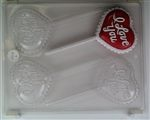Hearts With I Love You Lolly Chocolate Mold - CCV057