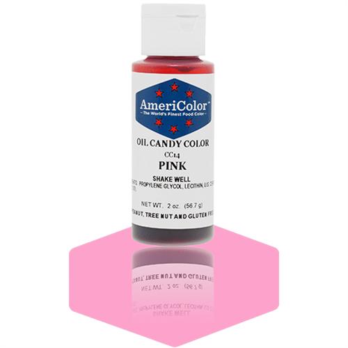 Pink Oil Candy Color - AmeriColor CC14 - 2 Ounces