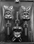 Adult Bunny Girl Lolly Chocolate Mold