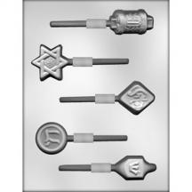 Jewish Symbols Sucker Chocolate Mold