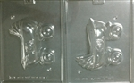 2-Piece 3D Baby Carriage Chocolate Mold
