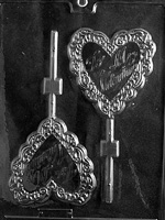 Large Be My Valentine Lolly Chocolate Mold - LPV054
