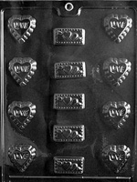 """Love"" Assortment Chocolate Mold - LPV044"