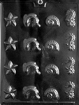 Sea Assortment Chocolate Mold Starfish Jumping Fish Nautilus Seahorse