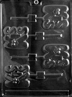 Kiss Lolly Chocolate Mold - LPV040