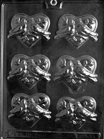 Hearts with Doves Chocolate Mold