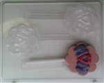Mom Scalloped Sucker Chocolate Mold Mother's Day Birthday Lollipop M008