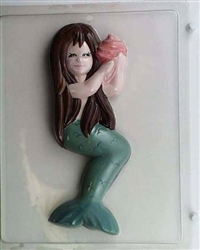 Large Mermaid Holding Shell Chocolate Mold