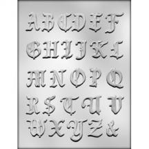 "1-3/8"" Alphabet Chocolate Mold"